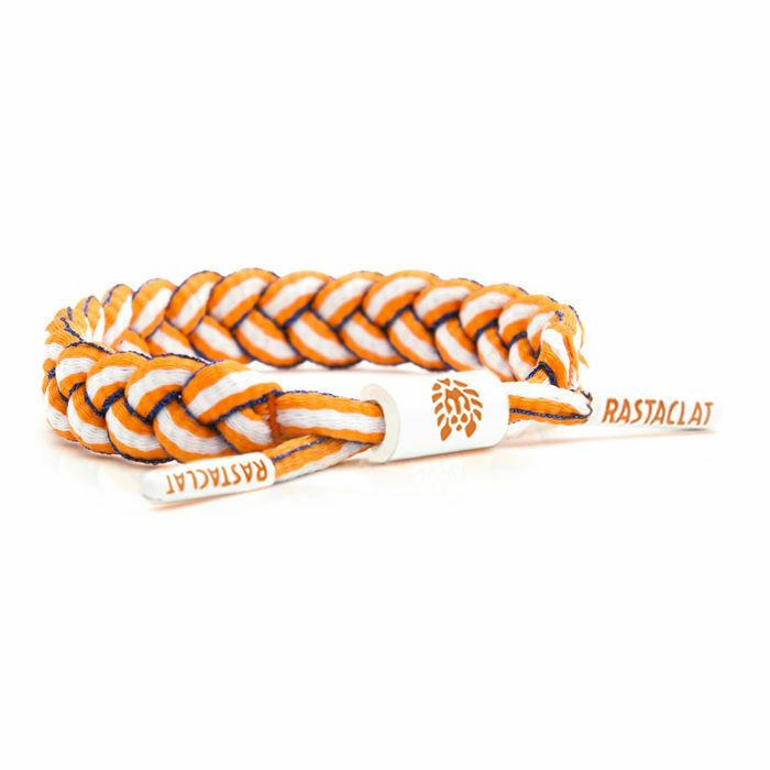Rastaclat OKC Orange/Blue/White Holland Shoelace Bracelet RC001SORWT
