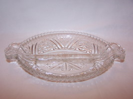 Early American Prescut Relish Dish Divided Starburst - $6.00