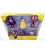 disney parks beauty and the beast 6 pcs figure cake topper playset new w... - $18.49