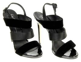Giuseppe Zanotti Women's Black Velvet Strappy Sandals High Heels 38.5 - €254,72 EUR
