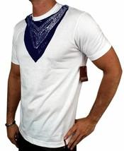 NEW LEVI'S MEN'S PREMIUM CLASSIC GRAPHIC COTTON T-SHIRT SHIRT TEE WHITE BANDANA