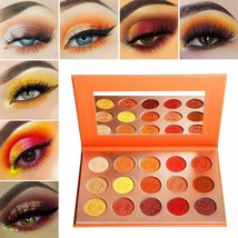 Red Orange Eyeshadow Palette Sunset 15 ColorAfflano Pro Highly Pigmented... - $16.82