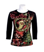 "Jess N Jane ""Santa's Journey"" Dressy Ladies Rhinestone T Shirt-small - $39.99"