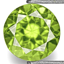 INDIA Sphene 0.52 Cts Natural Untreated Bright Green Round - $260.00