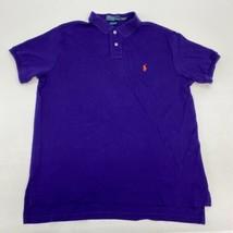 Polo Ralph Lauren Polo Shirt Men's Large Short Sleeve Purple Custom Fit ... - $18.95