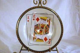 American Atelier Casino King Of Diamonds Salad Plate - $4.15