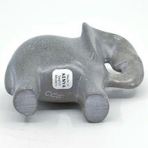 Crafts Caravan Hand Carved Natural Dove Gray Soapstone Elephant Figurine Kenya image 5
