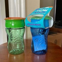 Wow Cup for Kids 360 Sippy Cup, 10 oz, 2 Pack   (Blue/Green) - $10.89