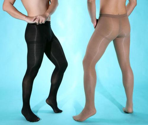 Men Velvet 80D Sexy Pantyhose Elastic Stockings & Crotch Easy Open Underwear - $11.99