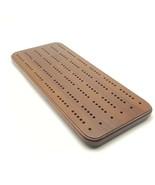 Cribbage Board Wooden 3 Tracks Dark Oak Wood 15 7/8 inch - $19.99
