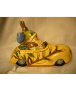 Vaillanc/2ourt Folk Art Spring Break Santa in a Car with  Bunny Signed n... - $259.99