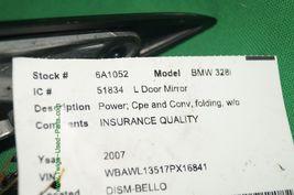 07-09 Bmw E92 328i 335i Cpe Conv Mnual Fold Side View Door Mirror Driver Left LH image 9