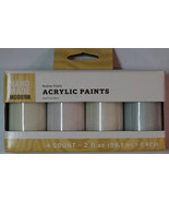 New! Hand Made Modern Acrylic Paints 4 Pack Festive Frosts 2 fl oz Each - $7.91