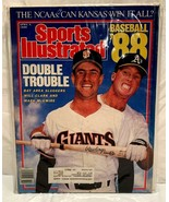 Sports Illustrated APRIL 4, 1988 ''DOUBLE TROUBLE''  WILL CLARK, MARK Mc... - $6.92