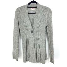 Anthropologie Rosie Neira Womens Sz S Marled Gray Cardigan Sweater Singl... - $37.39