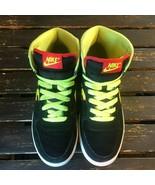 Nike SB Dunks Big High Top 366726071 Vintage Rare Retro Black Neon Green... - $197.99