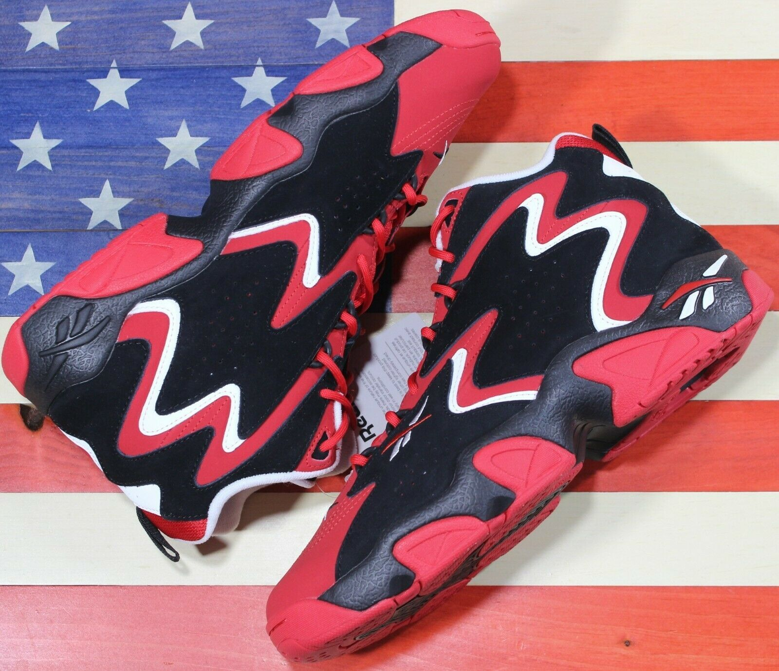 Primary image for REEBOK Mobius OG Basketball Shoe Scarlet Red Black White Chicago[CN7905] Men 9.5