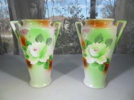 "Pair of Japan flowers décor vases 5"" - $20.00"