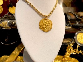 Gold Necklace Colombia 2 Escudos 1622 Atocha Pendant Coin Jewelry Treasure - $699.00