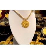 GOLD NECKLACE COLOMBIA 2 ESCUDOS 1622 ATOCHA PENDANT COIN JEWELRY TREASURE - $699.00