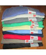 Men's T-Shirt V Neck 3XL Hanes Heavy Weight 6 Pc 6 Color 100% cotton 50/50  - $29.94