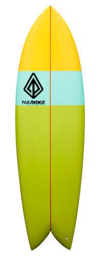 "Paragon Retro Fish 6'5"" Multi-Color Surfboard"