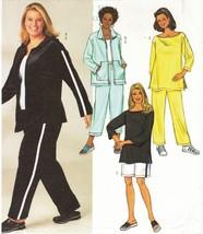 Womens Plus Size Hooded Semi Fit Jacket Tunic Shorts Pants Sew Pattern 2... - $13.99
