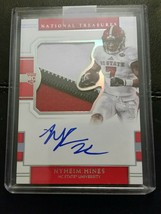 #3/25 Nyheim Hines Rookie Patch Auto 2018 Panini National Treasures NT N... - $47.35