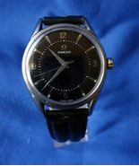 Vintage Omega cal. 284 Sweep Second Steel Wrist Watch Fully Serviced Black Dial - $1,150.00
