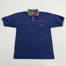 Vintage Tommy Hilfiger Polo Shirt Youth M Navy Green Short Sleeve 100% Cotton - $14.99