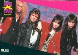 Mr. Big trading Card (Musicians) 1991 Proset Musicards Super Stars #211 - $3.00