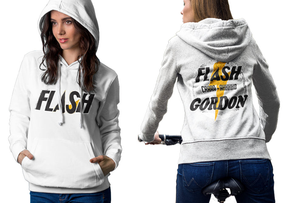 Flash gordon hoodie classic women white