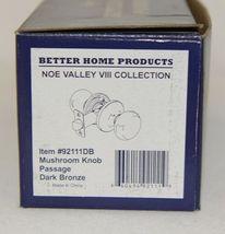 Better Home Products 92111DB Mushroom Knob Passage Dark Bronze image 4