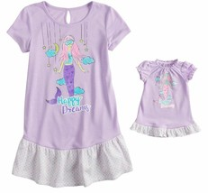 Girl 4-14 and Doll Matching Mermaid Nightgown Clothes ft American Girl D... - $16.99