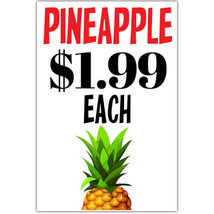 Pineapple Grocery Sign Business Window Retail Poster - ₨1,040.65 INR+