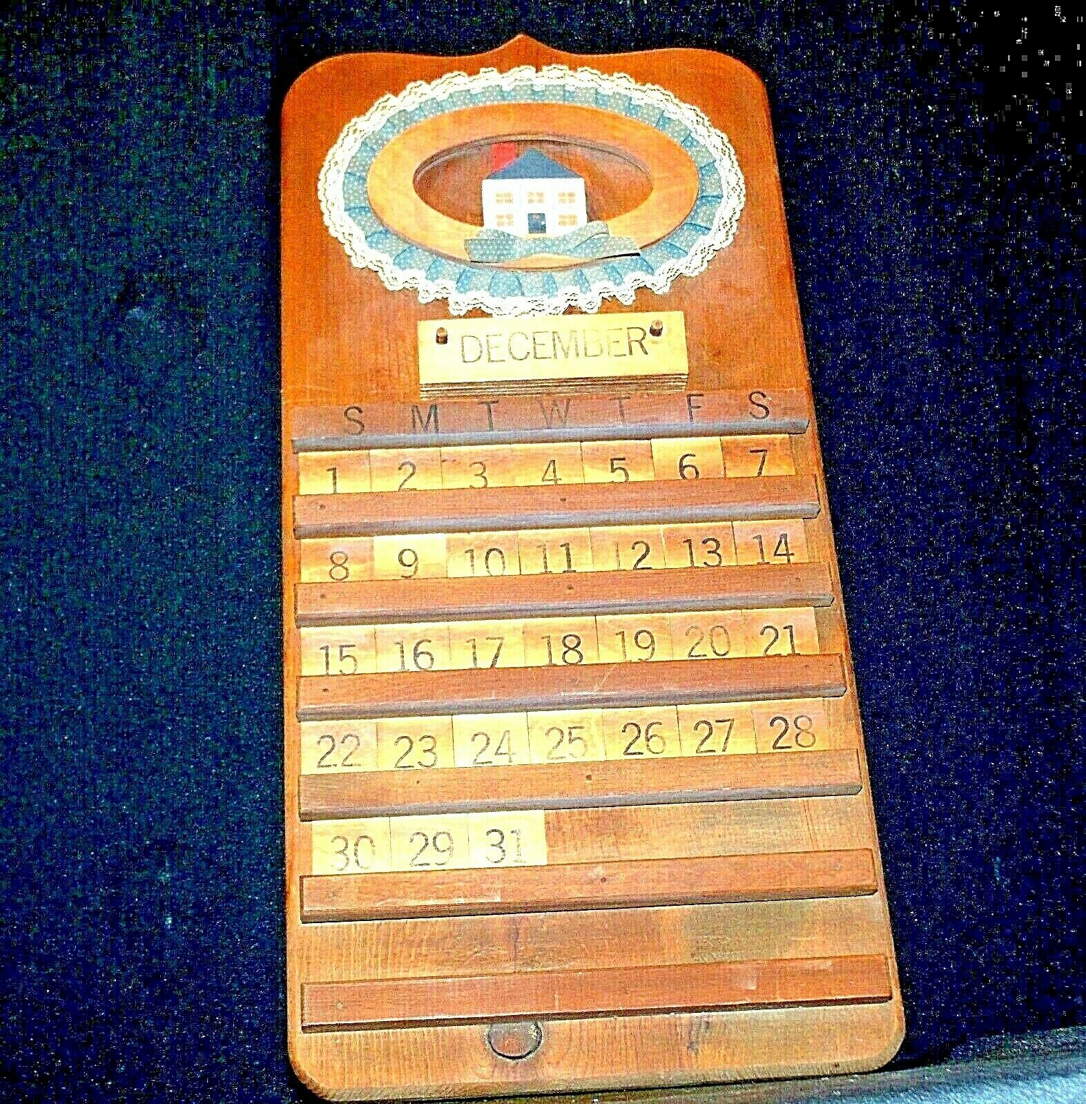 A Wooden Calendar AA-191936  Collectible