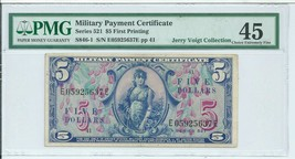 Series 521 $5 Military Payment Certificate First MPC Note Currency PMG 4... - $573.75