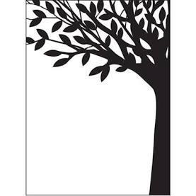 Leafy tree trunk