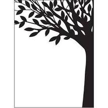 Leafy Tree Trunk Embossing Folder.  Darice