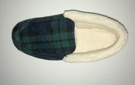 Club Room Men's Tartan Plaid Moccasin Slippers Red Choose Size  L XL NEW - $50.64 CAD