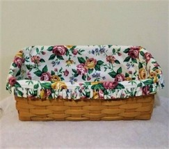Longaberger (1998) Vanity Basket with Garden Splendor Liner - $37.61