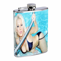 Oklahoma Pin Up Girls D13 Flask 8oz Stainless Steel Hip Drinking Whiskey - $12.82