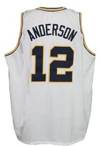 Kenny Anderson #12 Custom College Basketball Jersey New Sewn White Any Size image 2