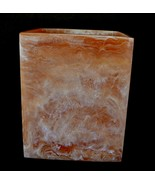 Mike & Ally Corsica Resin Spice Orange & White Resin Square Wastebasket