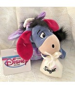 "Disney Sugar Plum Fairy EEYORE 7"" Plush Beanie Toy NEW with Tag - $14.99"