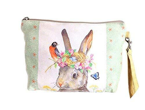 Cute Rabbit Canvas Cosmetic Bags/Purse