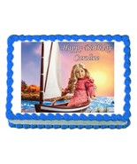 American Girl CAROLINE edible party cake topper decoration frosting shee... - $7.80