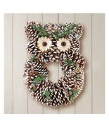 Pinecone Owl Wreath (col) D15 - $148.49