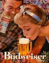 Vintage Budweiser King of Beer Ad   Get That Head  2.5 x 3.5 Fridge Magnet - $3.99