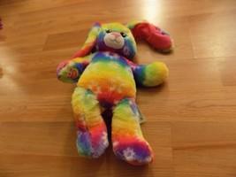 Build A Bear Workshop BABW Bright Blooms Rainbow Tie Dye Easter Bunny Rabbit EUC - $28.00